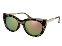 Sunglasses Alensa Cat Eye Havana Pink Mirror