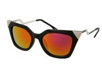 alensa.gr - Φακοί επαφής - Sunglasses Alensa Cat Eye Shiny Black Mirror