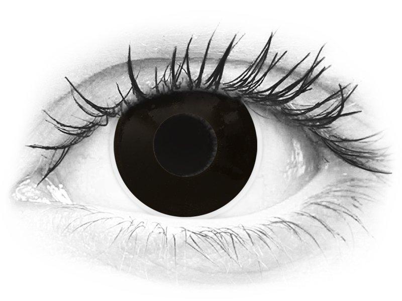 ColourVUE Crazy Lens - BlackOut - Μη διοπτρικοί (2 φακοί)
