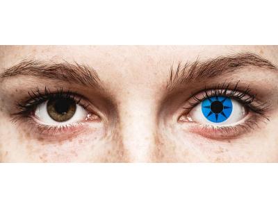 ColourVUE Crazy Lens - Blue Star - Μη διοπτρικοί (2 φακοί)