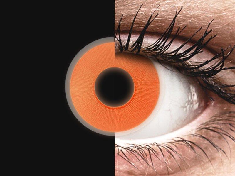 ColourVUE Crazy Glow Orange - Μη διοπτρικοί (2φακοί)