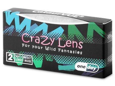 ColourVUE Crazy Lens - White Zombie - Ημερήσιοι φακοί Μη διοπτρικοί (2 φακοί)