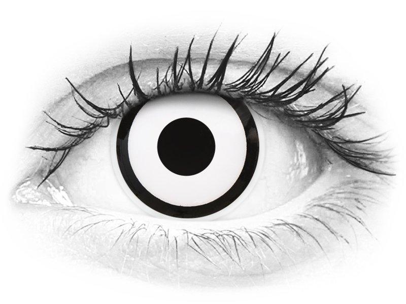 2561f28007 ColourVUE Crazy Lens - White Zombie - Ημερήσιοι φακοί Μη διοπτρικοί (2 φακοί)  ...