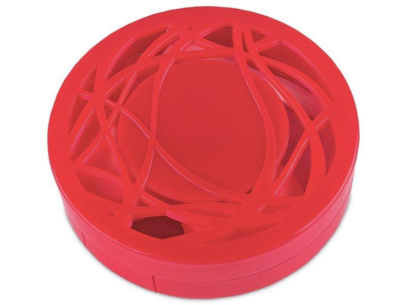 Θήκη φακών με καθρέπτη (κόκκινη)