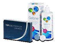 TopVue Premium (6 φακοί) + υγρό Gelone 360 ml