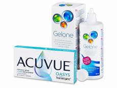 Acuvue Oasys with Transitions (6 φακοί) + Gelone διάλυμα φακών επαφής 360 ml