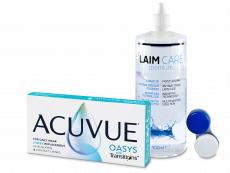 Acuvue Oasys with Transitions (6 φακοί) + Laim-Care υγρό φακών επαφής 400 ml