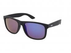 Sunglasses Alensa Sport All Black Blue Mirror