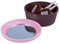 alensa.gr - Φακοί επαφής - Θήκη φακών με καθρέφτη - ροζ (Muffin)