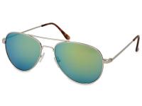 alensa.gr - Φακοί επαφής - Γυαλιά ηλίου Silver Pilot - Μπλε/ Πράσινο