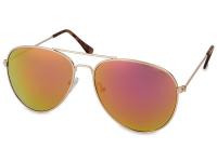 alensa.gr - Φακοί επαφής - Γυαλιά ηλίου Gold Pilot - Ροζ/Πορτοκαλι
