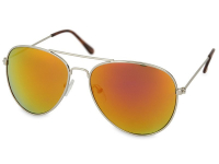 alensa.gr - Φακοί επαφής - Γυαλιά ηλίου Silver Pilot  - Ροζ / Πορτοκαλί