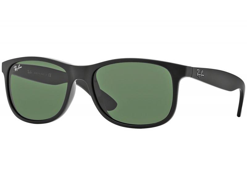 2b29a37433 Μαύρα γυαλιά ηλίου Ray-Ban με πράσινους φακούς