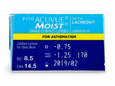1 Day Acuvue Moist for Astigmatism (30 φακοί)